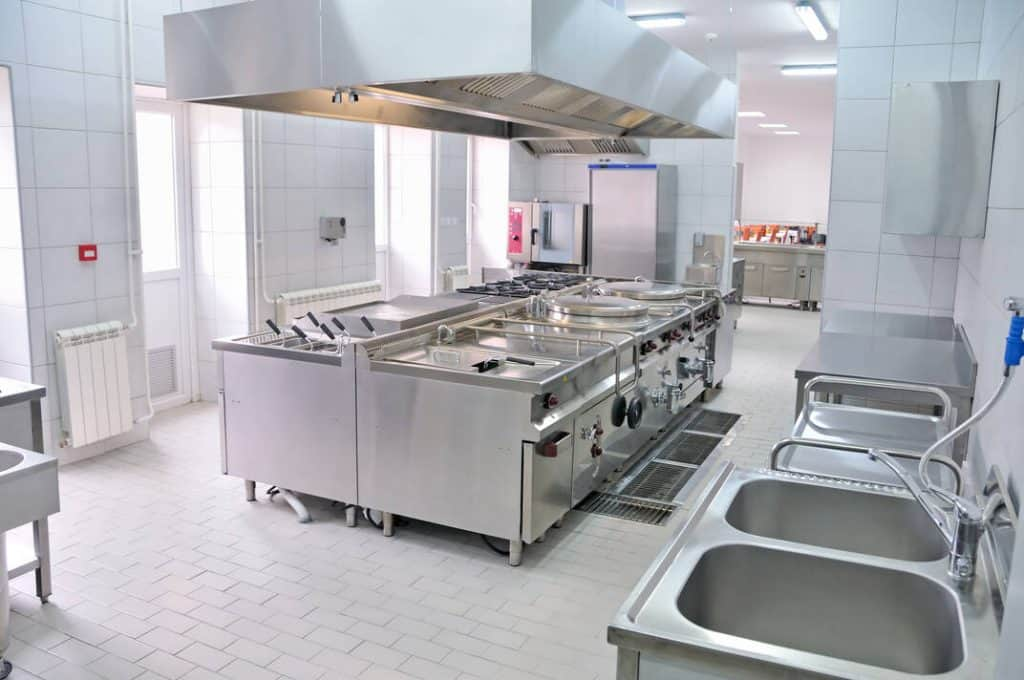 clean canteen kitchen